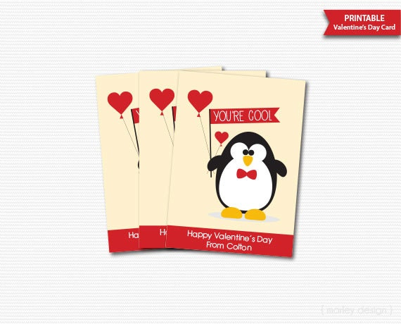 valentines day cards classroom cards printable personalized