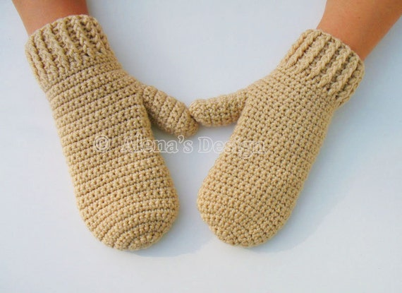 Crochet Pattern 105 Adult Mittens in three sizes Adults Teens Mittens Men Women Gloves Unisex Adult Ladies Winter Mitts Christmas Gift