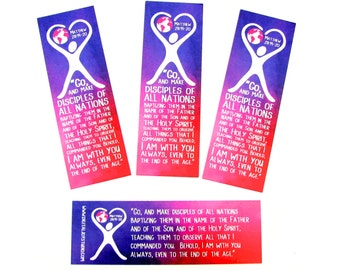 Missions Bookmarks - Choose Quantity - The Great Commission - Matthew 28:19-20 - Gifts for Women - Bible Study Favors - Christian Gifts
