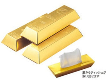 3 pieces of gold bar tissue paper From Japan