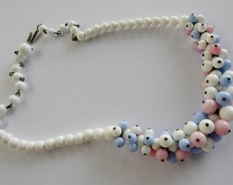 Antique Art Deco Pastel Bead Choker