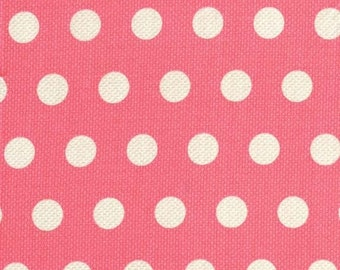 Michael Miller Textured Basics by Patty Young Cool Dots in Salmon by the Yard
