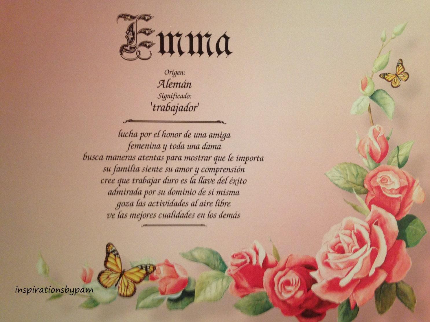Emma Vorname Bedeutung Art Print Spanische Name