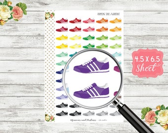 Running Shoe Stickers - Workout Stickers - Exercise Stickers - Planner Stickers - Sneaker Stickers - Gym Stickers - Fitness Stickers - H168
