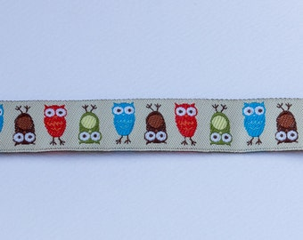 Owl linen ribbon