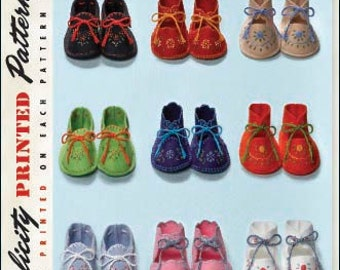 OUT of PRINT Simplicity Pattern 2867 Vintage Baby Booties