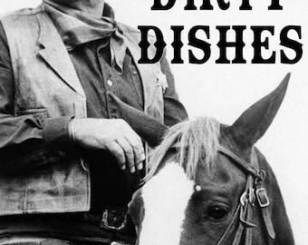 John Wayne Clean Dirty Dishwasher Magnet