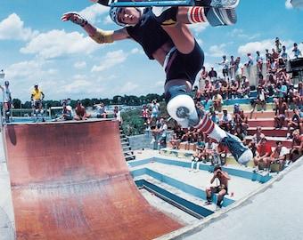 Steve Caballero Skateboarding Photo - 18X24 Archival Photograph - J Grant Brittain Skateboard Print Photo