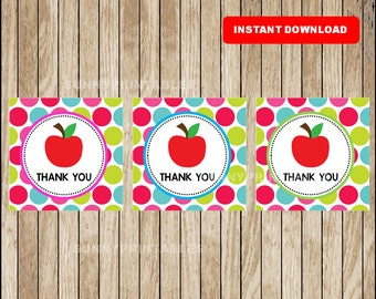 Teacher Appreciation Thank You tags ,  Teacher Appreciation Gift tags , Printable Teacher Appreciation tags instant download