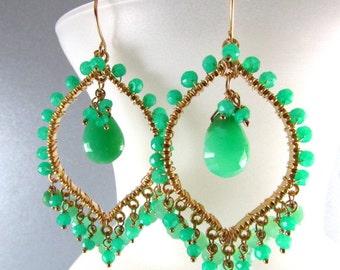 Exotic Chrysoprase Earrings