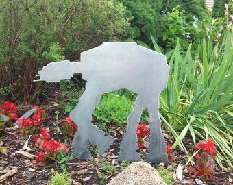 Star Wars AT-AT Inspired Metal Art for your Yard or Garden - Star Wars ATAT Sign - Imperial Walker for your Star Wars Garden