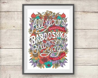 Kate Bush - Floral Babooshka - Print