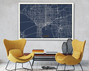 Map of tampa Etsy