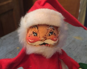 Vintage 1971 Annalee Dolls Holiday Christmas Winter Santa Claus Skiing Ski