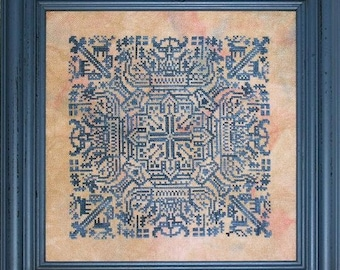 INK CIRCLES Reflections of Norway counted cross stitch patterns at thecottageneedle.com 2018 Nashville Market