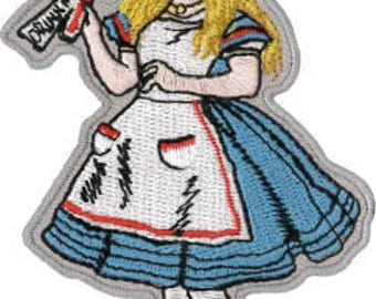 "Alice in Wonderland Embroidered Patch 9cm x 6cm (2 1/4"" x 3 1/2"")"