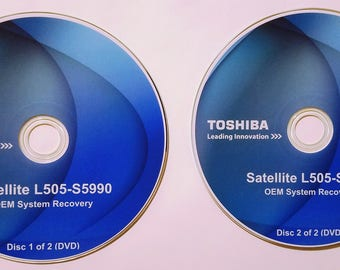 Toshiba L505-S5990 (O.E.M. Source) Full Factory Recovery Disks