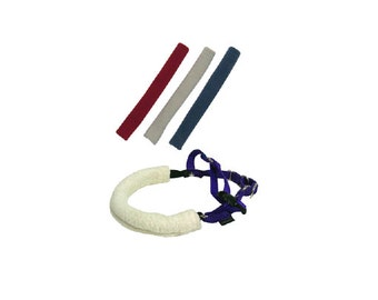 Harness Strap Cover - Made of Organic Cotton Sherpa, add comfort to any dog harness and prevent rubbing