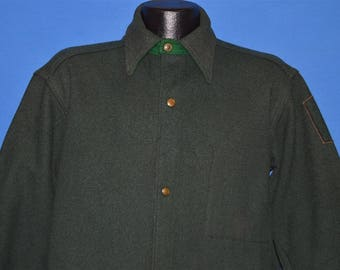 40s Woolrich Dark Wool Hunting Jacket shirt Large