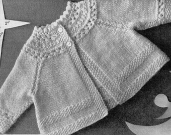 Baby matinee coats matinee jackets baby cardigan patterns vintage 1950s baby coats 19 inch QK  baby knitting patterns pdf instant download