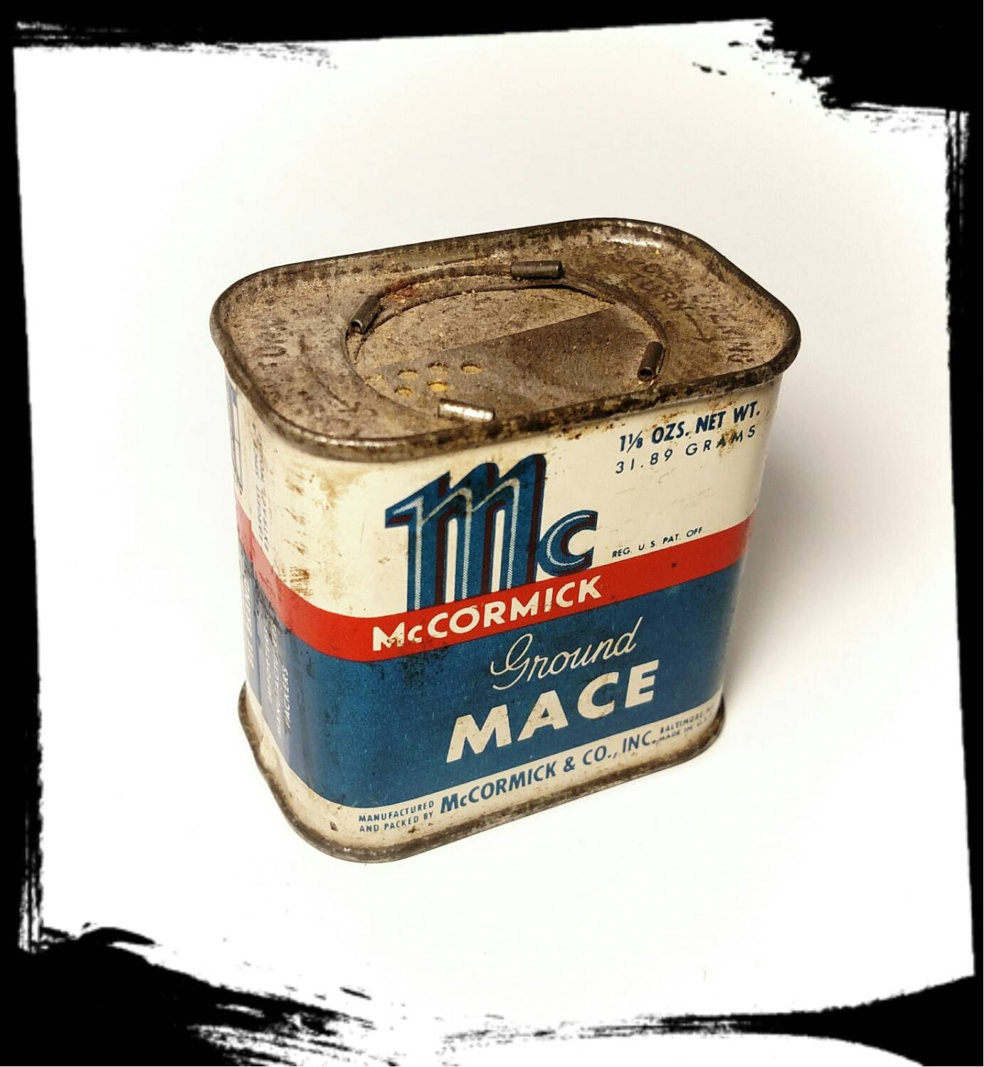 Vintage McCormick Bee Brand Mace Spice Tin/ Collectible