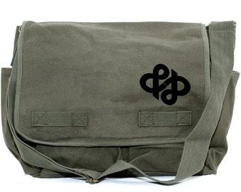 Messenger Bag | AMPERSAND infinity | Gift for Men | Camera Bag | Diaper Bag | Travel Large | Literary Gift | Womens Gift | Gift for Husband