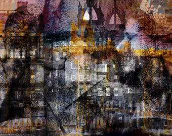 Edinburgh, Schottland, Kunstwerk, zeitgenössische Kunst, fotografie, mixedmedia, abstrakt, bunt, wandbild, digitale kunst, queen,