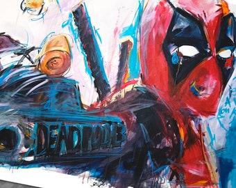 Deadpool Art Print superhero comic book fan artist poster by Cole Brenner amazing quality gift idea geek nerd Deadpool2 movie