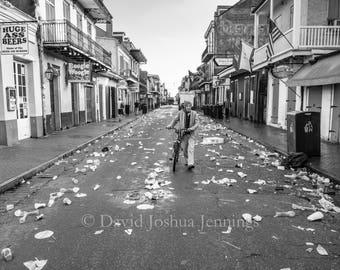 Bourbon Street Sunrise - New Orleans 2016 - Fine Art Photograph - Bourbon Street - Street Photography - Black and White - French Quarter