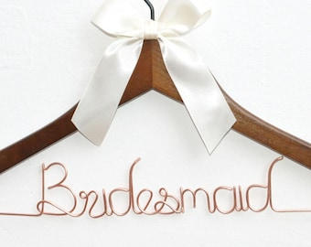 Personalized Bridesmaid Hanger, Bridesmaid gifts, Wedding hanger, Bridal Shower Gift, Custom Bridesmaid name hanger,Bridesmaid dress hanger,