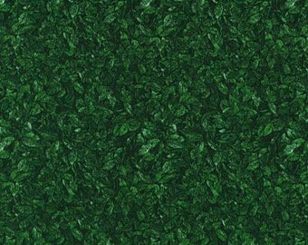 RJR  Landscapes green packed leaves fabric by the yard 1420-2