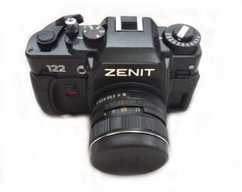 Zenit-122 Russian Vintage camera + Helios 44M 58mm F2 Lens