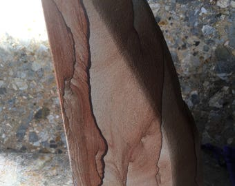 Landscape Picture Sandstone Freeform Sculpture, Reds and Browns, Reiki Healing Stone, Gift Idea