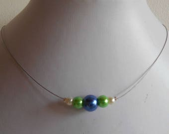 Wedding trend Necklace blue green and white