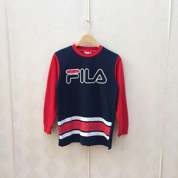 Vintage Fila Big Logo Sweatshirt Sm Size / Fila Pullover / Fila Big Logo / Fila Hoodie / Fila Jacket / Hip Hop / Rap lTrp1VVu