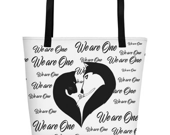 We are One White Beach Bag