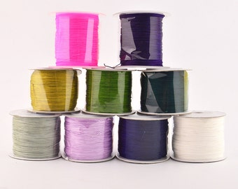 100 Meter Chinese Knotting Cord , Nylon  Cords  ,0.6 mm  9 colors  For choose