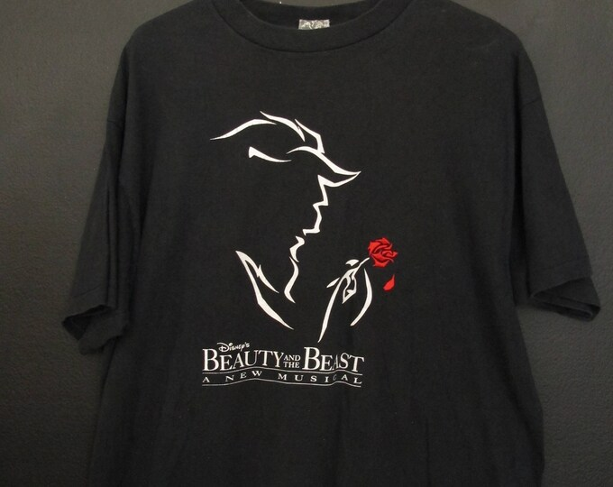 Disney Beauty & The Beast a New Musical 1990's vintage Tshirt