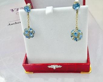 "1959's Blue ""Disco Ball"" Earrings"