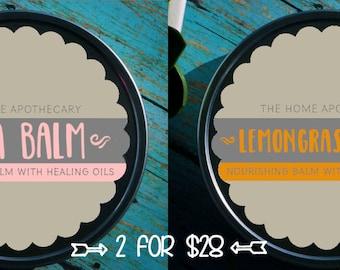 SALE! (1) Lemongrass Balm + (1) Shea Balm = (2) 8oz tins for 28