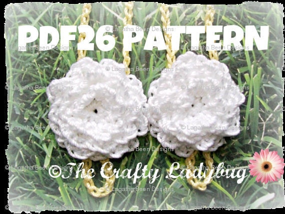 Chrysanthemum Barefoot Sandals Crochet Pattern For Babies And