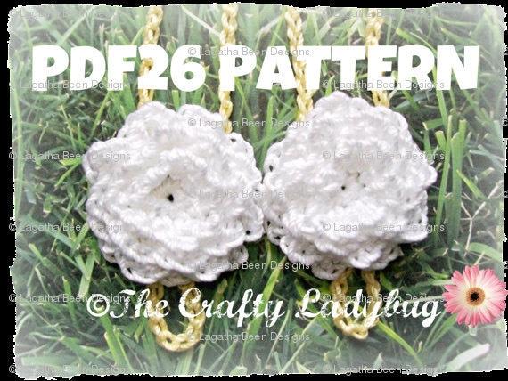 Chrysanthemum barefoot sandals crochet pattern for babies