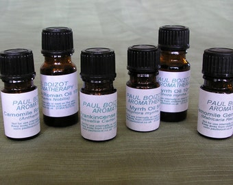 Essential Oils - Frankincense, Myrrh, Chamomile German
