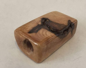 Birdseye Maple Wood Toke stone handmade #23