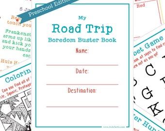 Travel Activity Book for Preschoolers, Printable Kids Quiet Travel Book, Travel Games Printable, Quiet Travel Toys for Kids, Games for Car