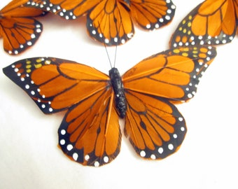 Butterfly Hair clip SOLD INDIVIDUALLY Monarch Butterfly CINNAMON feather butterfly handmade hair clip Butterfly Accessory by Ziporgiabella