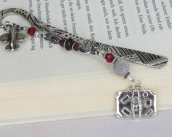 """vintage bookmark """" traveller """" silver world tourist / gift for reader /gift for him / gift for her / gift under 20"""