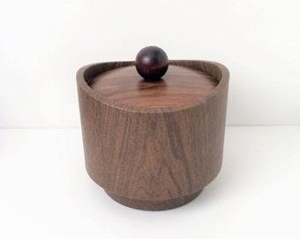 Vintage Kraftware Ice Bucket Faux Wood