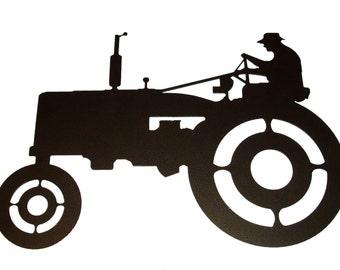 Tractor Metal Wall Art                    (A4)