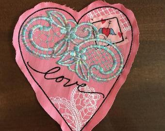 Valentine Lace Heart Patch